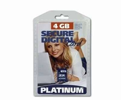4GB Platinum SD Card (Secure Digital) High Speed Speicherkarte (120x)