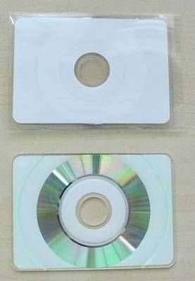 Cd R Bedruckbar 43 Mb Visitenkarte Format Inkjet Printable Weiß Inkl Plastiktasche
